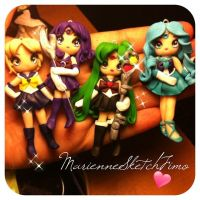 Sailor outer Senshi - Uranus Saturn Pluto Neptune by DarkettinaMarienne