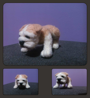 Needle felted english bulldog by soad666xd