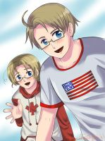 Hetalia: The North American Brothers by NessieMcCormick