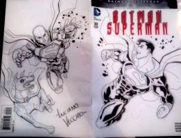 Superman vs Luthor convention sketch by LucianoVecchio