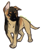 GSD pup gift for azzy by empiredog