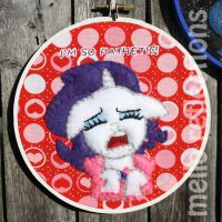 Rarity Embroidery Hoop by MelloReflections