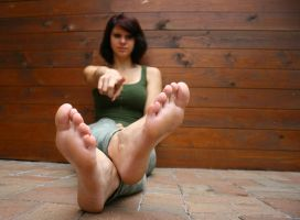 Franzi pointing on her toes by foot-portrait