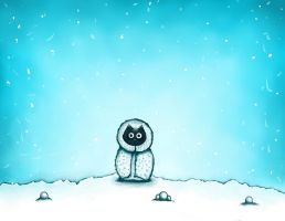 Eskimo Cat Snow - Desktop - Cartoon Illustration by lyssagal
