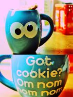 Cookie Monster Cup by xnyanya