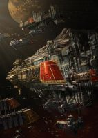 PortAquila AsteroidStation by ameeeeba