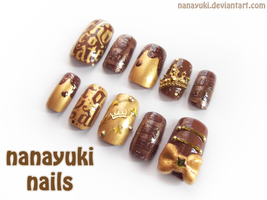 chocolate royal nailart by Nanayuki