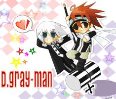 D.Gray-Man Chibi Wallie by alice-top