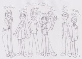 Scrubs Sketch by The-Real-Shaydee