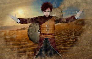 cosplay of Gaara by sochouquette