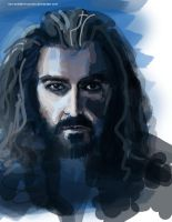 Thorin Oakenshield. sketch. by non-existent-country