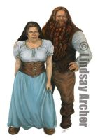 DragonLance: Dwarf Couple by LinzArcher