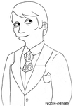 Lineart - Simpsonized Hannibal by frozen-cherries