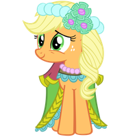 Applejack in dress - vector by SapphireBeam