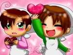 .:Contest Entry:. Chibitalia and Chibimano by SkyWarriorKirby