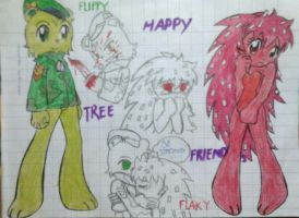 HTF: Flippy and Flaky by Whitecat1998