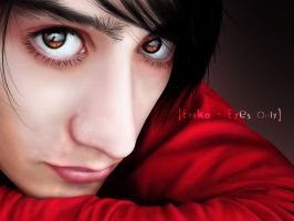 Eriko - Eyes Only - REALISTIC by Sin-nombre