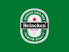 Heineken lager beer wallpaper by Lemongraphic