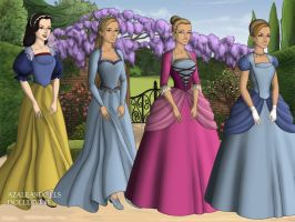 First Four Disney Heroines by CartoonNetworkgal