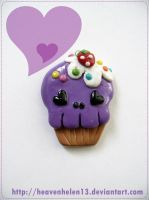 purple skull cuppy by heavenhelen13