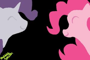 Rarity and Pinkie Pie by Silent-Willow