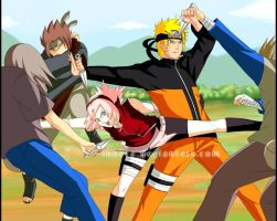 Naruto.Sakura.FIGHT by innera