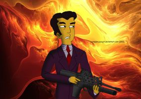 Simpsons: Say Hello to Johnny Tightlips by LSimpsonJazzgirl