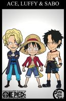 SPECIAL CARD Ace, Luffy and Sabo by jimjimfuria1