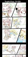 Tophy-chan VS Eli the mistery by jadenyugi9