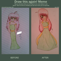 Draw this Again Meme: Girl in Dress by LissieDollx3