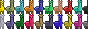 Llama Color Set 3x Larger by crookedcartridge