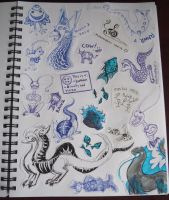 March 2010 Doodles by Mearii-chan