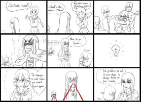 Kill la Kill Alternate Universe fancomic (parody) by h0saki