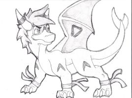 Free Sketch #2 for: Destro-the-Dragon by Chibi-Dragoness