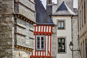 Red half-timbering of Brittany - France by Tetelle-passion