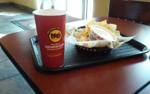 Moes Nachos with chesse dip by iza200117