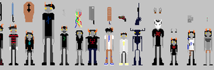 Homestuck Oc's Pixel Version Thingy For Tumblr by Maximusatticus
