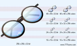 Spectacles Icon by medical-icon-set