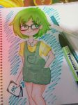 Green girl by cilisies