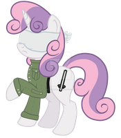 Blinded Sweetie Belle (The Crystal Siege) by SPIDIvonMARDER