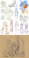 Mostly Pokemon Sketchdump by Lubrian