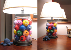 Emoticon Lamp by a-kid-at-heart