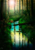 forest Stream by DoomVolya