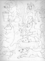 Lots of wolfy's by CreatureCreatingBabe