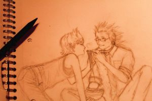 akuroku day and ramen -wip- by kaddabo