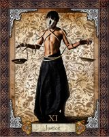 Tarot Card : Justice by alienbiru