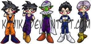 DBZ Bookmarks by kojika