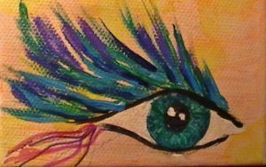Peacock eyelashes by FlamingShadows