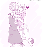 I've finally found you- Natsu and Lisanna by Antlers-sama