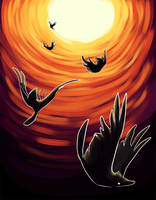 RAVEN STEALS THE SUN: thesis sample 24 by katanisk
